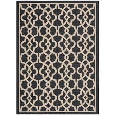 safavieh courtyard beige black 8 ft x 11 ft indoor outdoor area indoor outdoor area rug