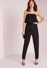 black and white jumpsuit jumpsuits shop s jumpsuits missguided
