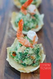 prawn avocado crowns and lobster tails with chilli lime butter