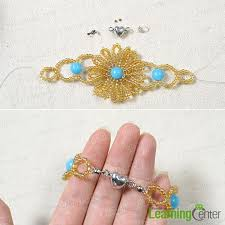 How To Make Magnetic Jewelry - pandahall jewelry how to make a beaded sunflower charm bracelet