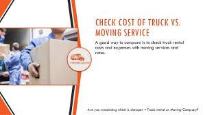 Uhaul Estimated Cost by Moving Company Vs Truck Rental Companies Like U Haul