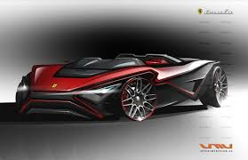 mclaren lm5 concept ferrari profile roadster by vincent montreuil on deviantart