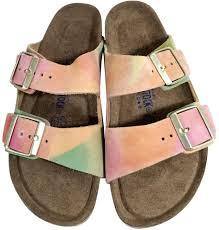 birkenstock multi color arizona sandals size us 7 regular m b