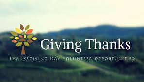 4 volunteer opportunities this thanksgiving season in