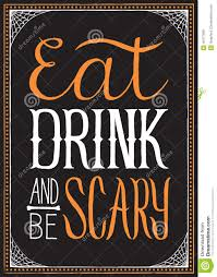 eat drink and be scary halloween background stock vector image