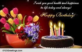 Happy Birthday Wish You Health And Happiness Free Happy Birthday Ecards 123