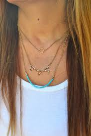 boho layered necklace images Jewels layered necklace pyramids triangles turquoise jpg