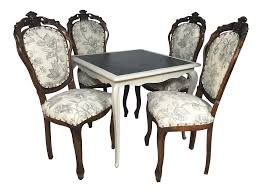 vintage french dining table antique french game table and chairs s 5 chairish