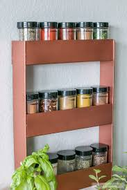 copper spice rack