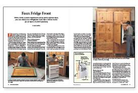 how to make your fridge look like a cabinet faux fridge front fine homebuilding