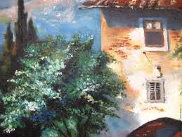 buy oil painting on canvas italian landscape of lake como on