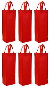wine bottle gift bags reusable gift bag single bottle wine tote 6 pack set