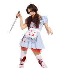 scary zombie halloween costumes scary zombie dorothy maid undead ladies fancy dress halloween