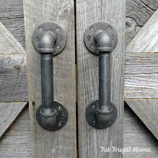 How To Install Barn Door Hardware by Diy Door Handles Under 30 Fab Frugal Mama