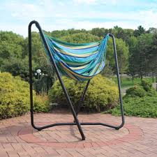 Hammock Chair And Stand Combo Sunnydaze 2 Point Hanging Hammock Chair Swing And A Stand Set For
