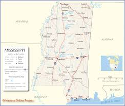 State Map Of Mississippi by Mississippi Map Travel Across The Usa