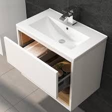 Hudson Reed Bathroom Furniture Hudson Reed Coast White Gloss Wall Hung Vanity Unit 600mm