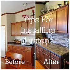 Easy Backsplash Kitchen by Best 25 Airstone Backsplash Ideas On Pinterest Airstone Easy