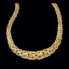 beautiful necklace gold images Gold byzantine fashion necklace jpg