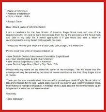 eagle scout letter of recommendation letters eagle scout project