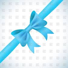 blue bows set of festive bows and ribbons royalty free vector clip image