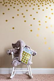 Nursery Decor Stickers Posh Dots Metallic Gold Circle Wall Decal Stickers For