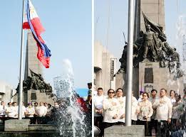 Ceremony Flag Flag Raising Ceremony At The Bonifacio Day Celebration In Caloocan
