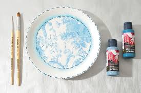 diy decorative wall plates decoupage on glass and ceramic plates
