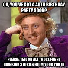 40th happy birthday funny memes 2happybirthday