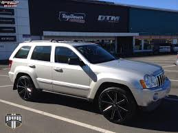 jeep cherokee black with black rims jeep grand cherokee dub push s109 wheels gloss black u0026 milled