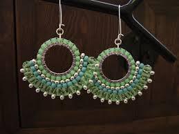 beginner earrings sunburst earrings or pendant brick stitch around a ring