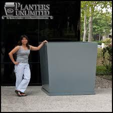 Square Planter Pots by Square Fiberglass Planters Commercial Sized Planters Large