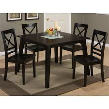jofran 852 42 square dining table with crackled glass insert in