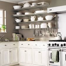 kitchen with shelves no cabinets 26 ways to expand a small kitchen without enlarging the room