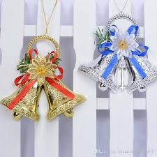 2017 creative plastic 15cm pendant drop bells ornaments christmas