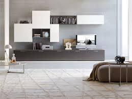 floating modern storage wall unit on grey wall modern storage wall
