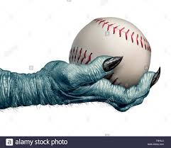halloween monster ball halloween baseball and autumn ball concept as a creepy zombie or