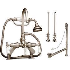 randolph morris tub faucet set rm684dmcsbn s vintage tub