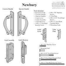 Andersen Frenchwood Gliding Patio Door Newbury 2 Panel Complete Hardware Set For Frenchwood Gliding Door