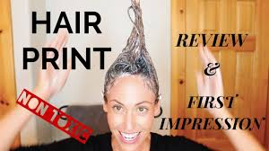 hairprint nontoxic hair color review first impression youtube
