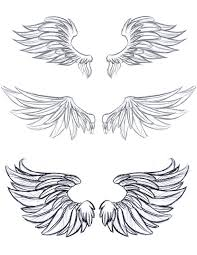 drawings of wings to inspire your angelic drawings