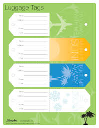 Business Card Luggage Tags Laminated Luggage Tag Template Back My Diy Luggage Tags With Pics Diy