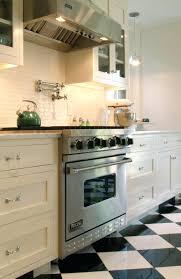 Kitchen Cabinet Cherry White Ceramic Tile Backsplash Kitchen Terrific Black And Design