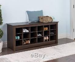 Hallway Shoe Storage Bench New Espresso Entryway Shoe Storage Bench Rack Organizer Wood