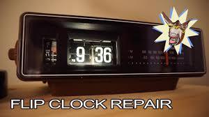 how to repair a flip clock panasonic rc 6030 tutorial youtube