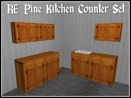 kitchen sink with cupboard for sale second marketplace re pine kitchen counter set w