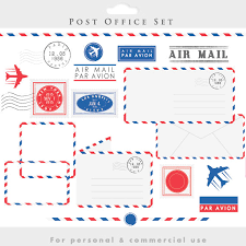 post office clipart stamps mail clip art postal elements postage