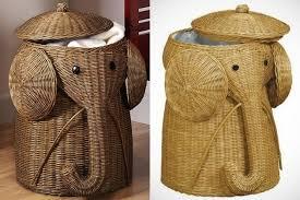 elephant hamper home decorators collection animal 18 in w grey