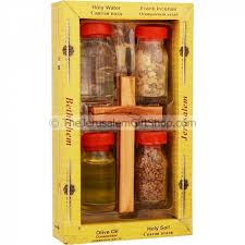 holy land gifts holy land elements with olive wood cross holy land christian gifts