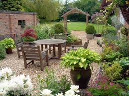 simple rock garden ideas with sitting area landscaping ideas